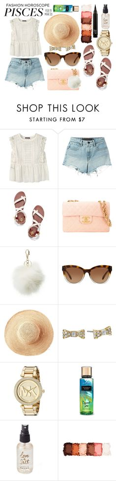 """""""Born With Pisces"""" by piscesgal0xy004 ❤ liked on Polyvore featuring Violeta by Mango, T By Alexander Wang, Tory Burch, Chanel, Charlotte Russe, Michael Kors, Toast, Kate Spade, Olivine and NYX"""