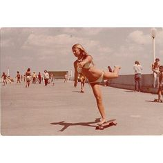 Skateboarding Ballet - 1977 South Beach Pier Miami by historyphotographed