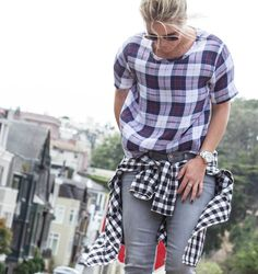 Fall fashion trend: plaids on plaids | Blondedbystyle