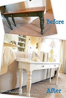 Farmhouse outdated to farmhouse chic - for the sofa table....it's time for a new look!