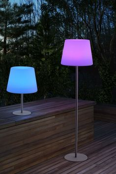 Multicolored floor lamps. Different. I like it. -D