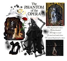 """""""The Phantom of the Opera"""" by allyssister ❤ liked on Polyvore featuring Masquerade"""