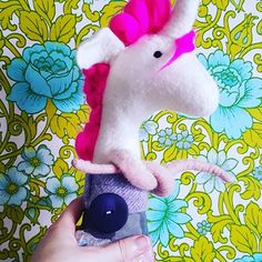 Tamzen Lundy Designs, hand made wet felted unicorn Textile Artists, Dinosaur Stuffed Animal, Unicorn, Etsy Seller, Felt, Creative, Handmade, Design, Hand Made