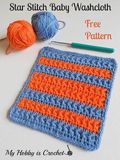 Crochet Star Stitch Dishcloth/ Baby Washcloth - Free Crochet Pattern on Ravelry