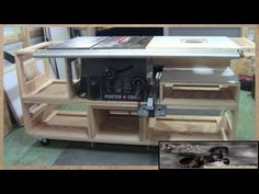 Building a Tablesaw Base Part 1 check out this video of a table saw base by Lumberjocks member woodjediNtraining this is a great design.