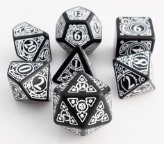 Steampunk Dice (Black) | RPG Role Playing Game Dice Set
