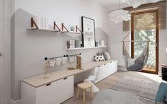 Eetkamerbank van maken met dik houten blad er op als zitting.