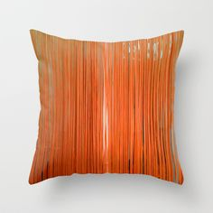 ORANGE+STRINGS+Throw+Pillow+by+JANUARY+FROST+-+$20.00