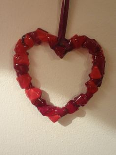 Fused Glass Heart Suncatcher How To Mend a by GlassWithLove
