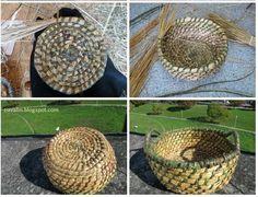 Blog sobre distintas artesanías, cestería, bolillos, macramé, fieltro, etc. Straw Bag, Blog, Hearts Of Palms, Straws, Felting