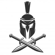 Warrior Helmet, Spartan Warrior, Angel Tattoo Designs, Tattoo Sleeve Designs, Spartanischer Helm, Leg Tattoos, Tattoos For Guys, Tribal Tattoos, Espada Tattoo