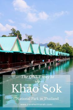 Have you seen hundreds of pictures of the infamous Cheow Lan Lake bungalows at Khao Sok National Park in Thailand? If you have been wondering how to stay in these bungalows, here is the easiest and most cost efficient way to do so! Chiang Mai Thailand, Koh Lanta Thailand, Visit Thailand, Thailand Destinations, Thailand Travel Guide, Asia Travel, Koh Phangan, Pattaya, Phuket
