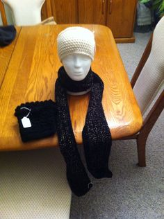 Cute scarf, headband, and boot cuffs