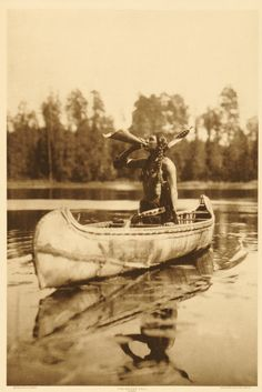 CAN I BE HIM?  Ojibway Man Calling Moose by Roland W. Reed...1908 Minnesota