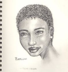 Look familiar? She should. This is Besah's mother when she was younger. Beelah is the primary love interest of our main character Aandar. Only one problem; they have an age difference.... read the book! http://www.lulu.com/shop/moses-soto/stone-holder/paperback/product-21588793.html #StoneHolder #book #books #novel #art #pencil #black&white #blackandwhite #artwork #sketch #beauiful #girl #curls #freckles #pretty