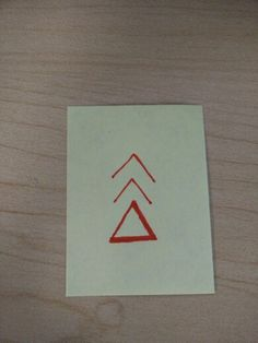 Delta with Kenaz nordic rune and upwards pointing arrow. Meaning: change, keep moving forward, and create your own reality