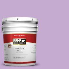 BEHR Premium Plus 5-gal. #660B-4 Pale Orchid Zero VOC Flat Interior Paint