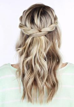 Cute Hairstyles For Prom Stylish_Braids_For_Curly_Hair_Waterfall_Braids  Prom  Pinterest