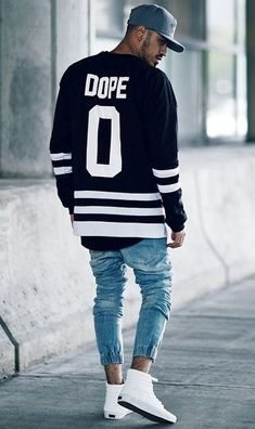 7601e80b594 black dope jersey like sweatshirt for men to pair their denims and white  high top sneakers with.