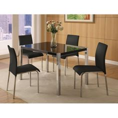 Charisma Dining Set for Four in Black HG
