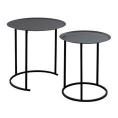 Sada 2 černých odkládacích stolků Design Twist Ocre Cofee Tables, Furniture, Home Decor, Decoration Home, Room Decor, Home Furnishings, Home Interior Design, Home Decoration, Interior Design