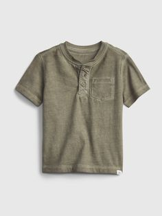 Toddler Henley T-Shirt | Gap Toddler Boy Outfits, Toddler Shoes, Toddler Girl, Summer Family Portraits, Summer Wedding Outfits, Vintage Knitting, Gap, Short Sleeves, Couture