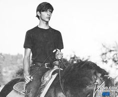 A very young David Lee Roth on horseback