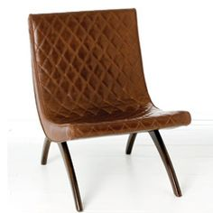 I think I'm in love with this chair.  Would be great in a fun color like turquoise or yellow.