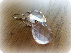 Simple and modern rose cut rose quartz sterling silver earrings