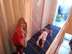 "Superhero training with ""traps"""