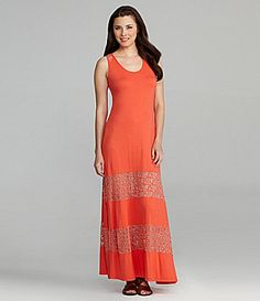 Chelsea and Violet Lace Inset Maxi Dress #Dillards