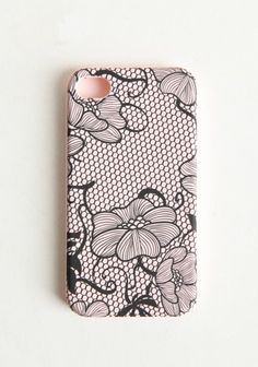 lacy petals iphone case  $14.99  Stylish and practical, this iPhone cover features a durable construction with a blush design.    Fits iPhone 4 and 4S.