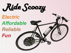 Jason Habeger is raising funds for Affordable Reliable & Fun Electric Commuting Bicycle on Kickstarter! Ride Scoozy is a new electric bicycle for commuting that offers the benefits of other electric bicycles at an affordable price. Electric Bicycle, Electric Cars, Bike News, Bicycles, Vehicles, Fun, Fin Fun, Electric Vehicle, Car