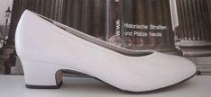 HASSIA classic Modell DIANA Damen Pumps TRUE VINTAGE weiß white Fußbett Schuhe