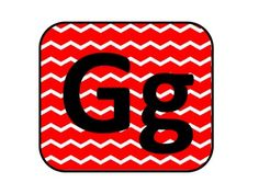 RED CHEVRON WORD WALL HEADERS - TeachersPayTeachers.com