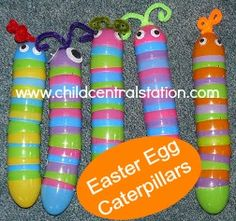 Easter Egg Caterpillars - great idea for nursery!