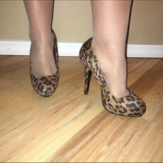 Leopard pumps NWOT!!! Has no signs of wear! Perfect colors for the summer! Great price! Will match with Jessica Simpson bag! Can be bundled and discounted! Heel length 5 inches  No trades  No Pay Pal ✅Bundles  ✅Negotiate/offers  Smoke free  Pet free Shoes Heels
