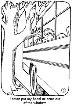 School Bus Safety Coloring Pages More