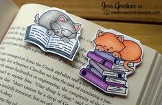 This video shows how to make magnetic bookmarks featuring the latest stamps from Newton's Nook Designs. Newton's Nook Blog Post: http://jesscraftsblog.blogsp...