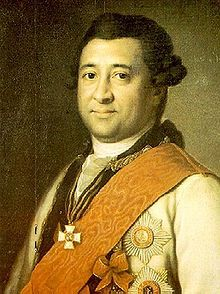 Major-General Abram Petrovich Gannibal, also Hannibal or Ganibal or Ibrahim Hannibal or Abram Petrov (Russian: Абра́м Петро́вич Ганниба́л; 1696 – 14 May[1] 1781, Suida, in present-day St. Petersburg), was an African brought to Russia as a gift for Peter the Great. He became major-general, military engineer, governor of Reval and nobleman of the Russian Empire. He is perhaps best known today as the great-grandfather of Alexander Pushkin, who wrote an unfinished novel about him, Peter the…