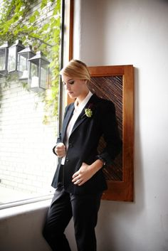 Androgynous bride! I want this as my reception outfit!