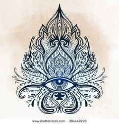 All seeing eye ornate composition. Isolated vector illustration for t-shirt print. Ojo Tattoo, Horus Tattoo, Sternum Tattoo, Mehndi Tattoo, Henna, Lotus Flower Art, Dibujos Tattoo, All Seeing Eye, Visionary Art