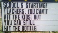 Good to know for teachers