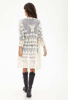 Butterfly Lace Maxi Kimono | FOREVER21 - 2000137855