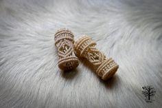 Dramatic Dreadlock beads  Custom Order - bohemian gypsy hippie statement wedding hair accessories bride dread bead hair braid wrap 2 Inches