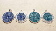 Glitter pendants made by Alexandra Reiner Etsy shop Chest of Beads Pendant Jewelry, Diy Jewelry, Pendant Necklace, Rhinestones, Crochet Earrings, Pendants, Glitter, Necklaces, Etsy Shop