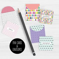 Free printable Note cards and printable envelopes set