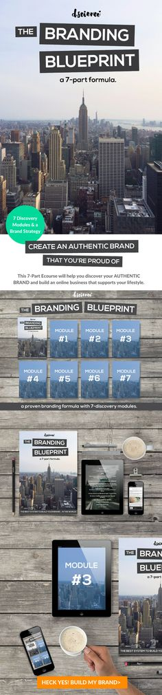 How to build an authentic brand that you're proud of... Have you ever wished that you had an amazing brand? This diy e-course will help you leverage your lifestyle and find your true, authentic purpose in business that will leave you feeling confident, and magnetically attract an audience and clients to support your cause. The Branding Blueprint is the easiest branding system in the world.