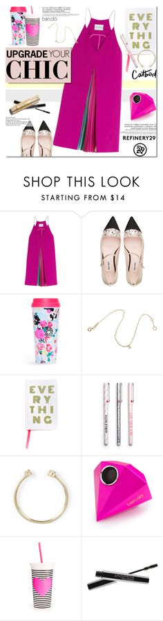 """""""These are a few of my favorite things.. (Upgrade Your Chic With Refinery29)"""" by purpleagony ❤ liked on Polyvore featuring mode, Mary Katrantzou, Miu Miu, ban.do, Smashbox, women's clothing, women, female, woman en misses"""