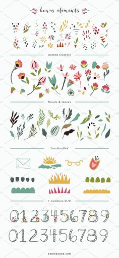 Darling Days of the Week by Denise Anne on @creativemarket
